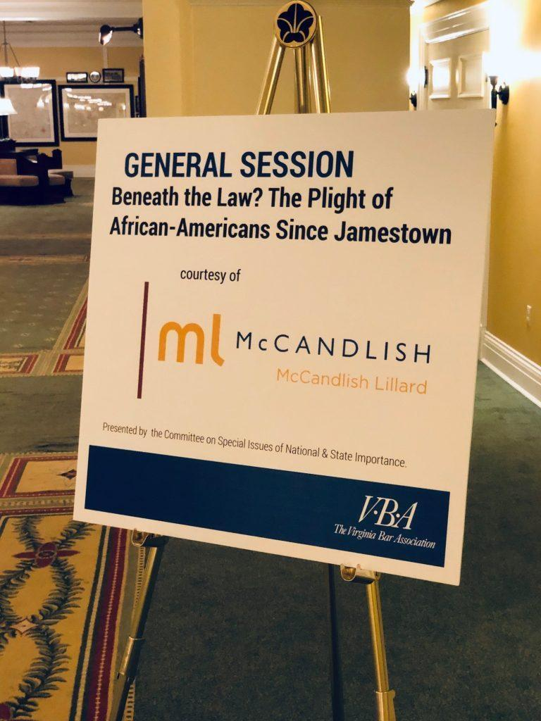 MCCANDLISH SPONSORS ANNUAL VBA SUMMER MEETING